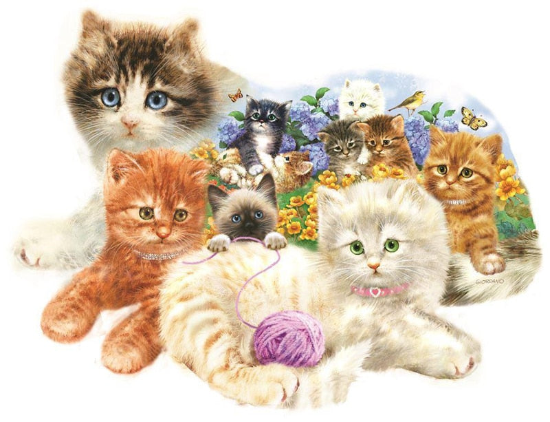 Litter Kittens Diamond Art