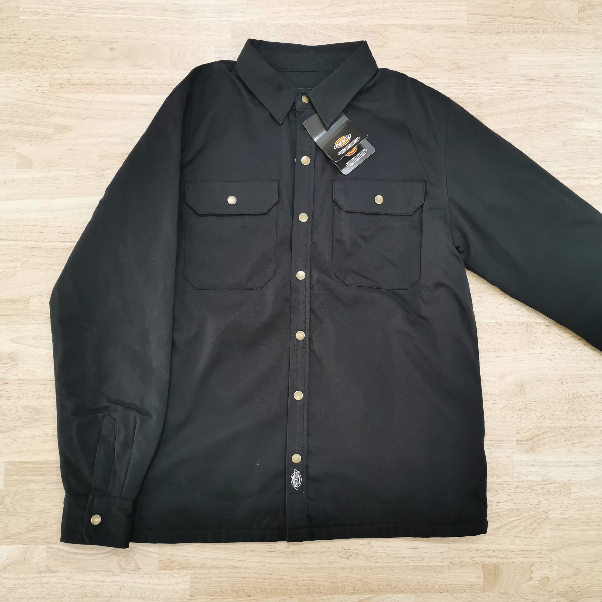 DICKIES - PAWNEE QUILTED LINED SHIRT - BLACK
