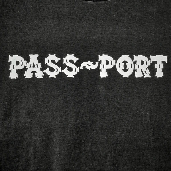 "PASS~PORT - ""BARBS"" TEE - BLACK"