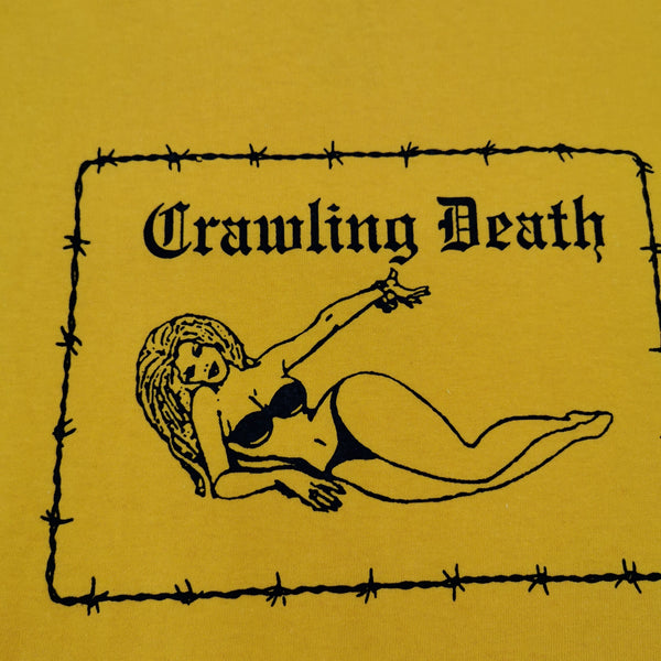 CRAWLING DEATH - BARBED WIRE GIRL T-SHIRT - GOLD