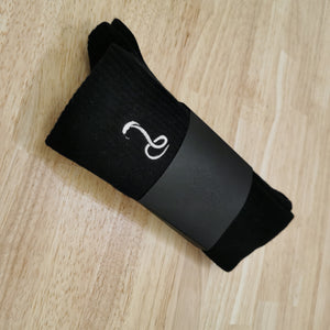 THE SNAKE HOLE - BLACK LOUNGE SOCKS (2 PACK)