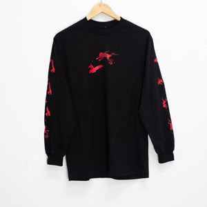 PASSPORT - SHADY SHADOWS LONG SLEEVE TEE - BLACK