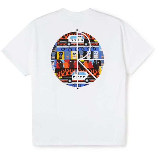 POLAR - COP CAR TEE - WHITE