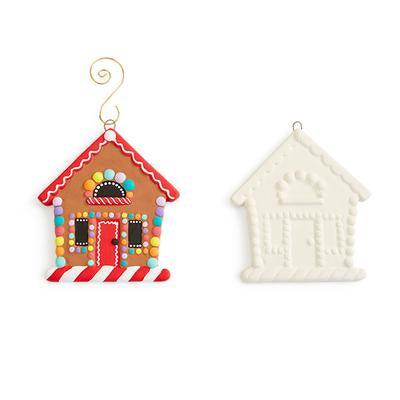 GINGERBREAD HOUSE FLAT ORNAMENT