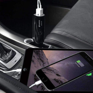 AMZER 2800mAh 2-Port USB Power Bank Car Charger
