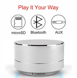 Mini Portable Bluetooth Stereo Speaker with USB/SD Card Support
