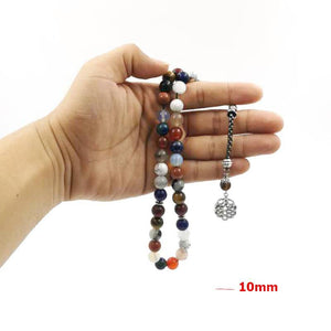 Tasbih From 12 natural gemstones stone beads - Bashatasbih