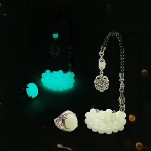 Tasbih Luminous stone rosary and luminous ring - Bashatasbih