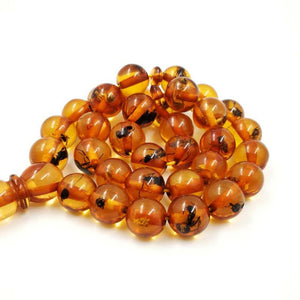 Eid gift For Muslim Real insect Resin Rosary Tasbih prayer beads Man's Accessories Misbaha Islamic insect Bracelets - Bashatasbih