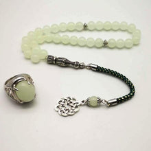 Tasbih Luminous stone rosary and luminous ring - Bashatasbih تحميل الصورة في عارض المعرض