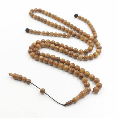 Natural cuka wood Tasbih 99beads - Bashatasbih