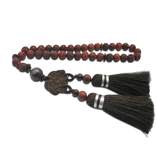 Natural Zambian sandalwood Tasbih 33 beads (no smell) Man's Misbaha Blood sandalwood  Misbaha Bracelets continuously updated - Bashatasbih
