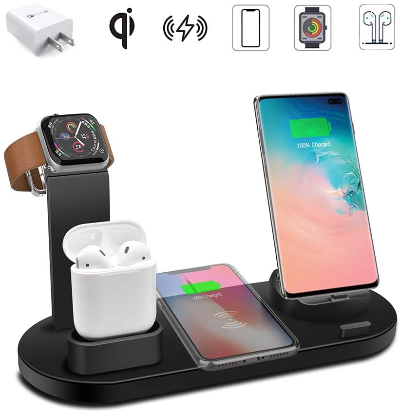 Wireless Charger 3 in 1 Charger Stand 15W QI Fast Charging Station