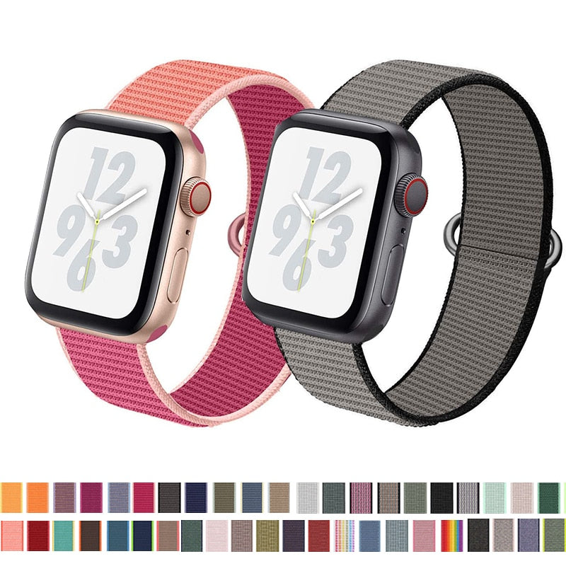 Strap (Nylon  Loop) For Apple Watch band