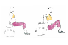 Tricep dips body weight exercise