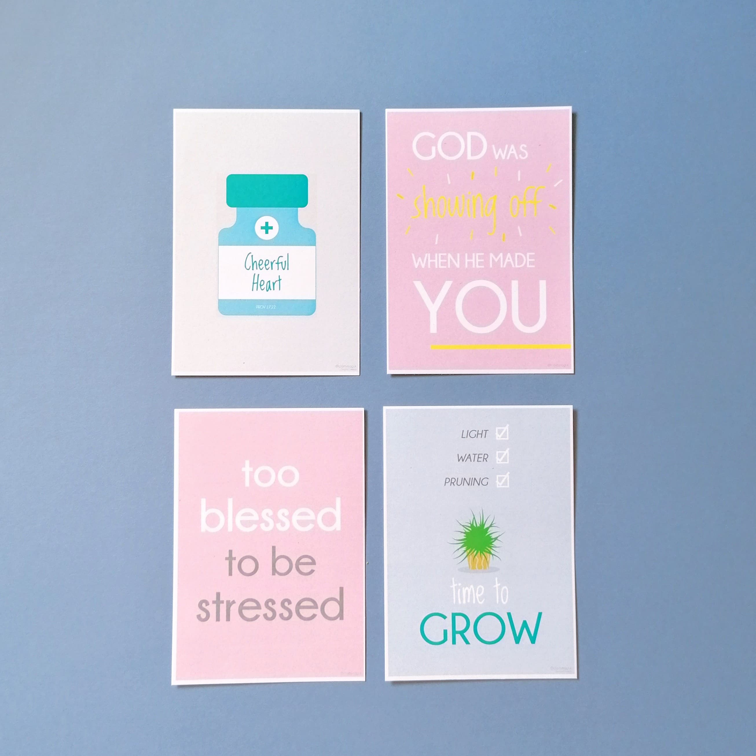 Clarity A6 encouragement cards x4