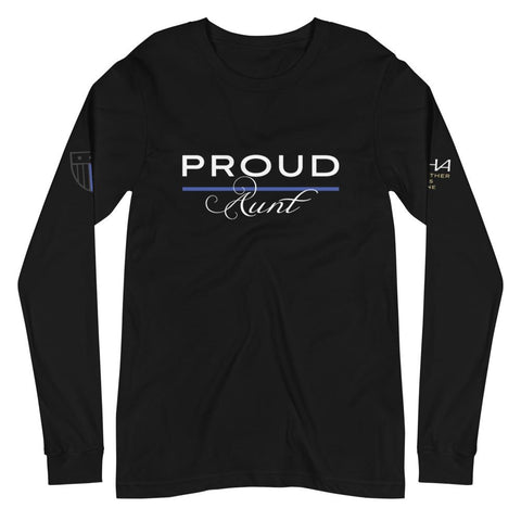 Proud Police Aunt Long Sleeve Tee - American Heroes Apparel