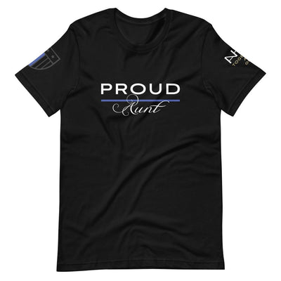 Proud Police Aunt T-Shirt - American Heroes Apparel