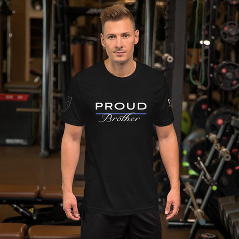 Proud Police Brother T-Shirt - American Heroes Apparel