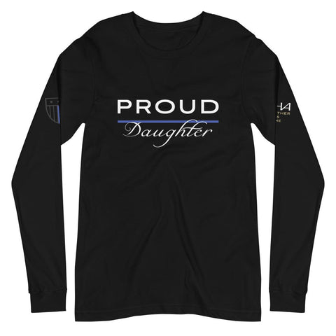 Proud Police Daughter Long Sleeve Tee - American Heroes Apparel