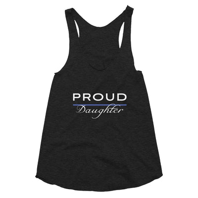 Proud Police Daughter Racerback Tank - American Heroes Apparel
