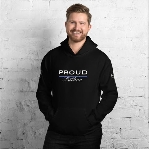 Proud Police Father Hoodie - American Heroes Apparel