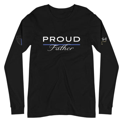 Proud Police Father Long Sleeve Tee - American Heroes Apparel