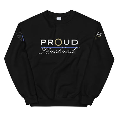 Proud Police Husband Sweatshirt - American Heroes Apparel