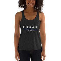Proud Police Mother Racerback Tank - American Heroes Apparel