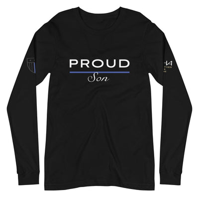Proud Police Son Long Sleeve Tee - American Heroes Apparel