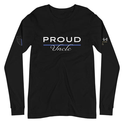 Proud Police Uncle Long Sleeve Tee - American Heroes Apparel