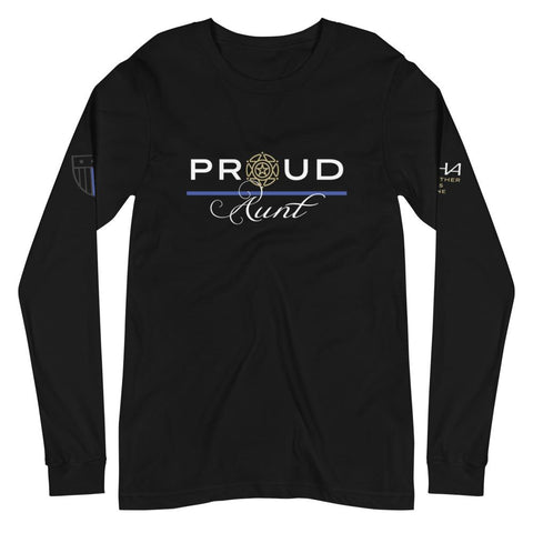 Proud Sheriff Aunt Long Sleeve Tee - American Heroes Apparel
