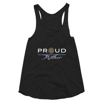 Proud Sheriff Mother Racerback Tank - American Heroes Apparel