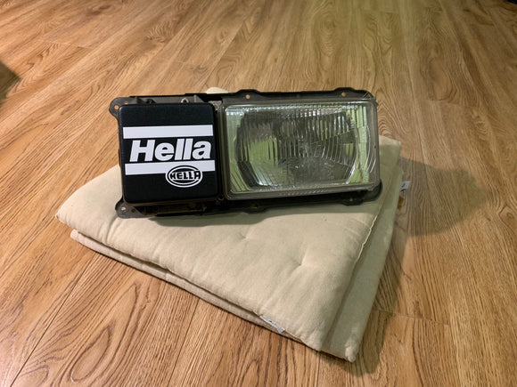 RARE Hella Style Scirocco mk2 Euro Front Fog Light Covers VW 16V G60 VR6 T3