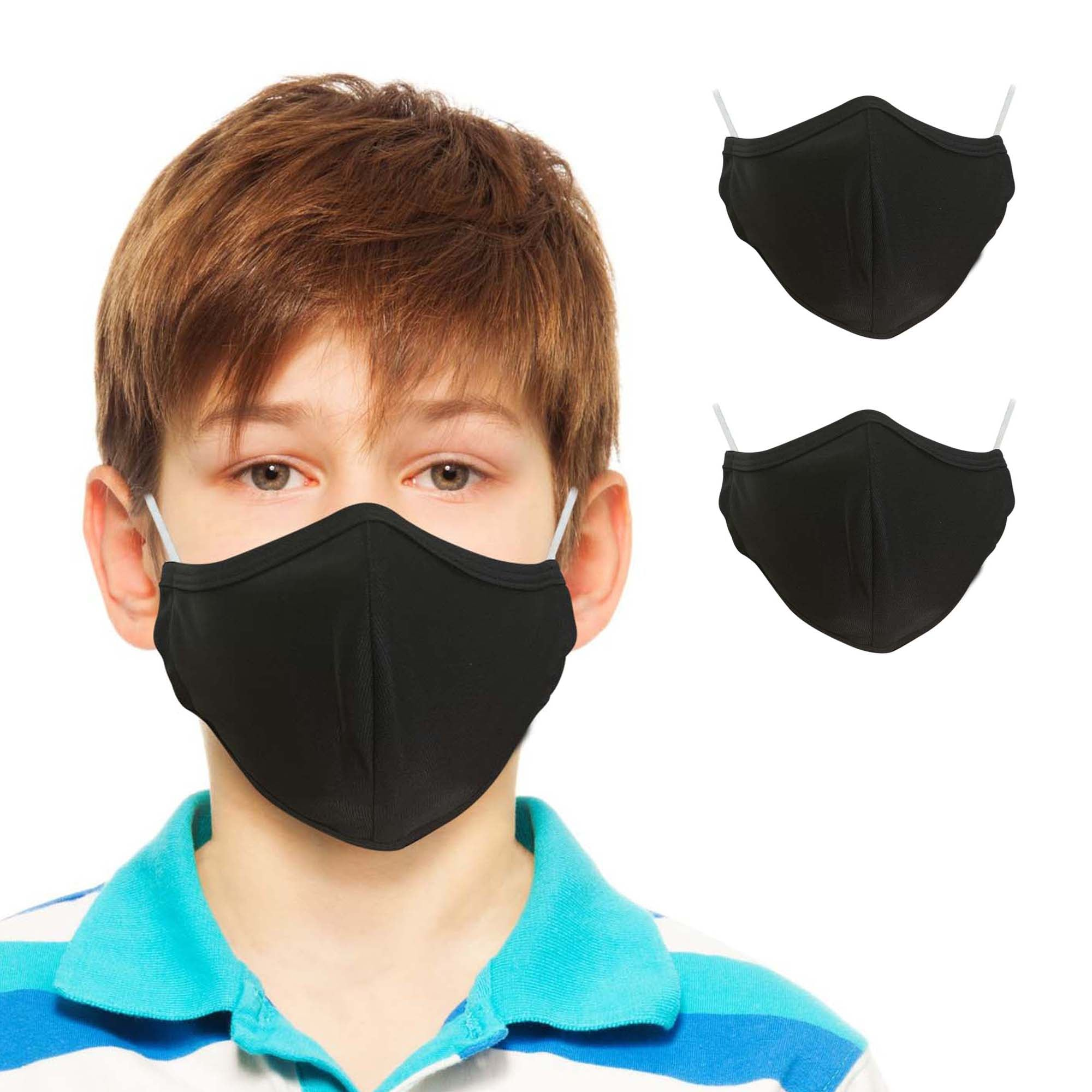 Fun & Cheery Plain Face Masks for Kids (2-pack) - primewareinc