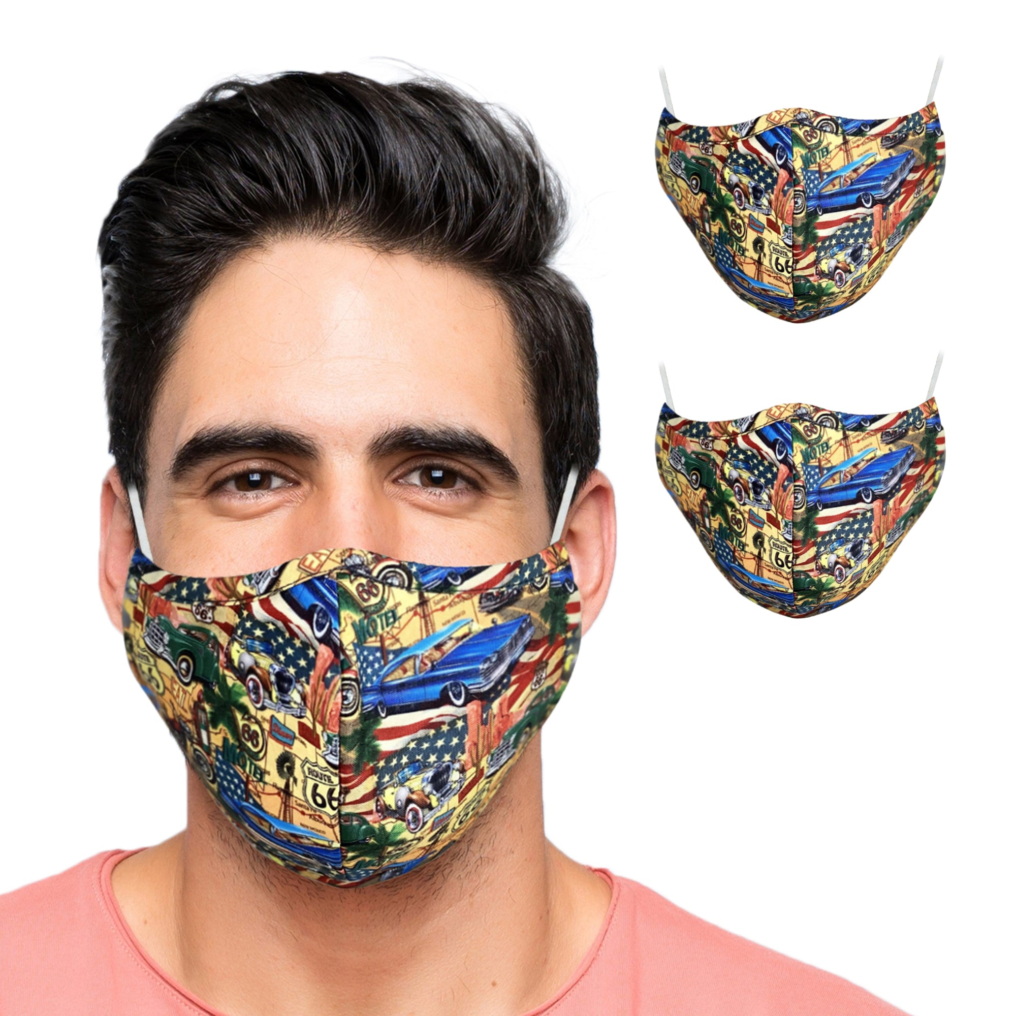 Two Layer Reusable Face Masks for Adults - primewareinc