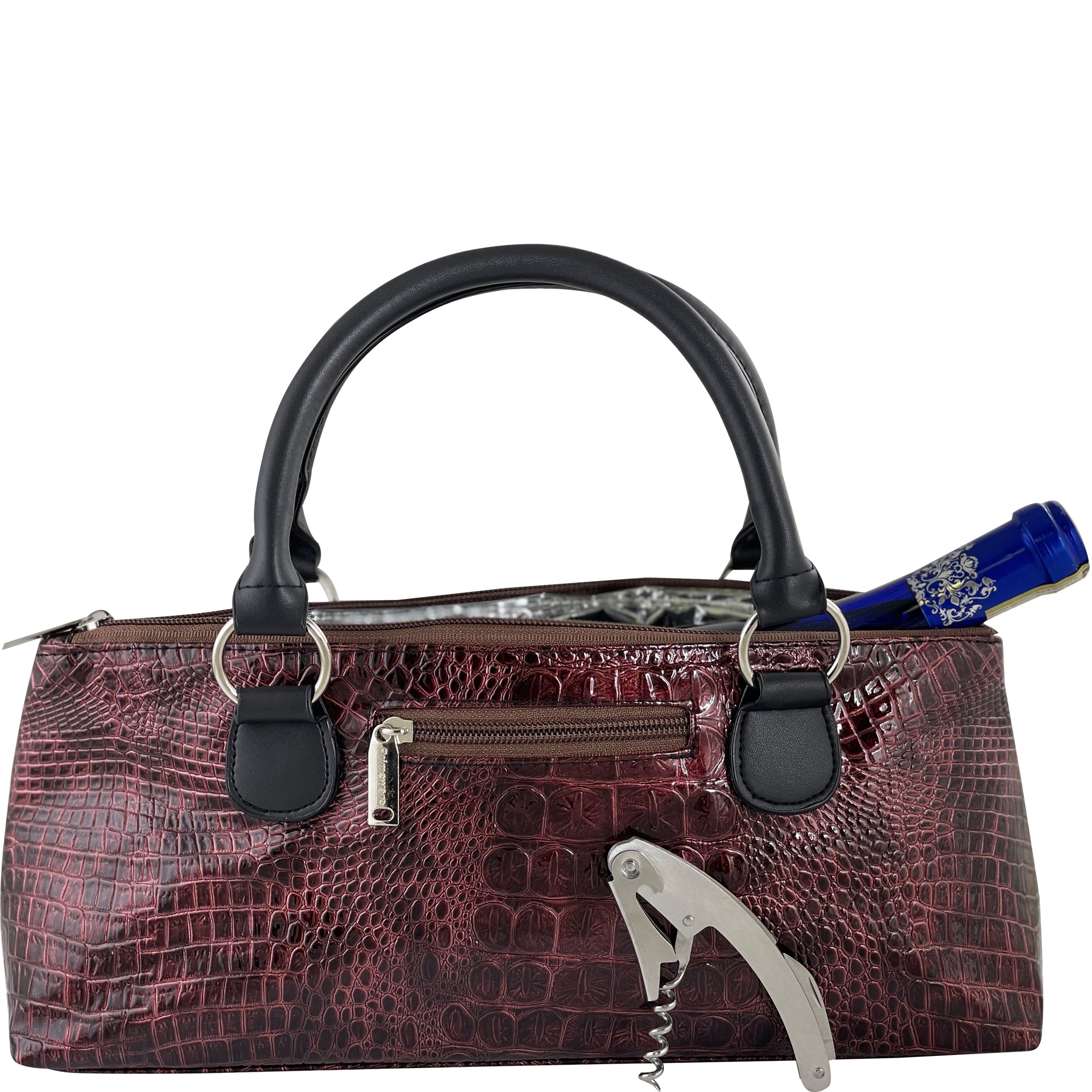 Wine Clutch Croc Design - primewareinc
