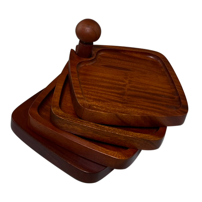 Appetizer Tray Cambridge Mahogany Design - Primeware Inc.