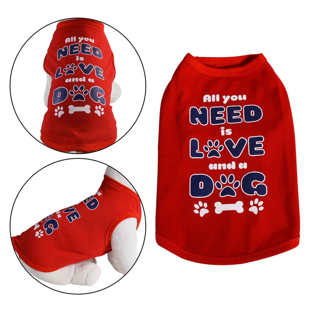 All you Need is Love and a Dog | Dog Shirt - primewareinc