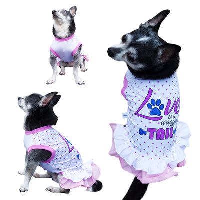 Love Is A Wagging Tail Dog Dress - Primeware Inc.