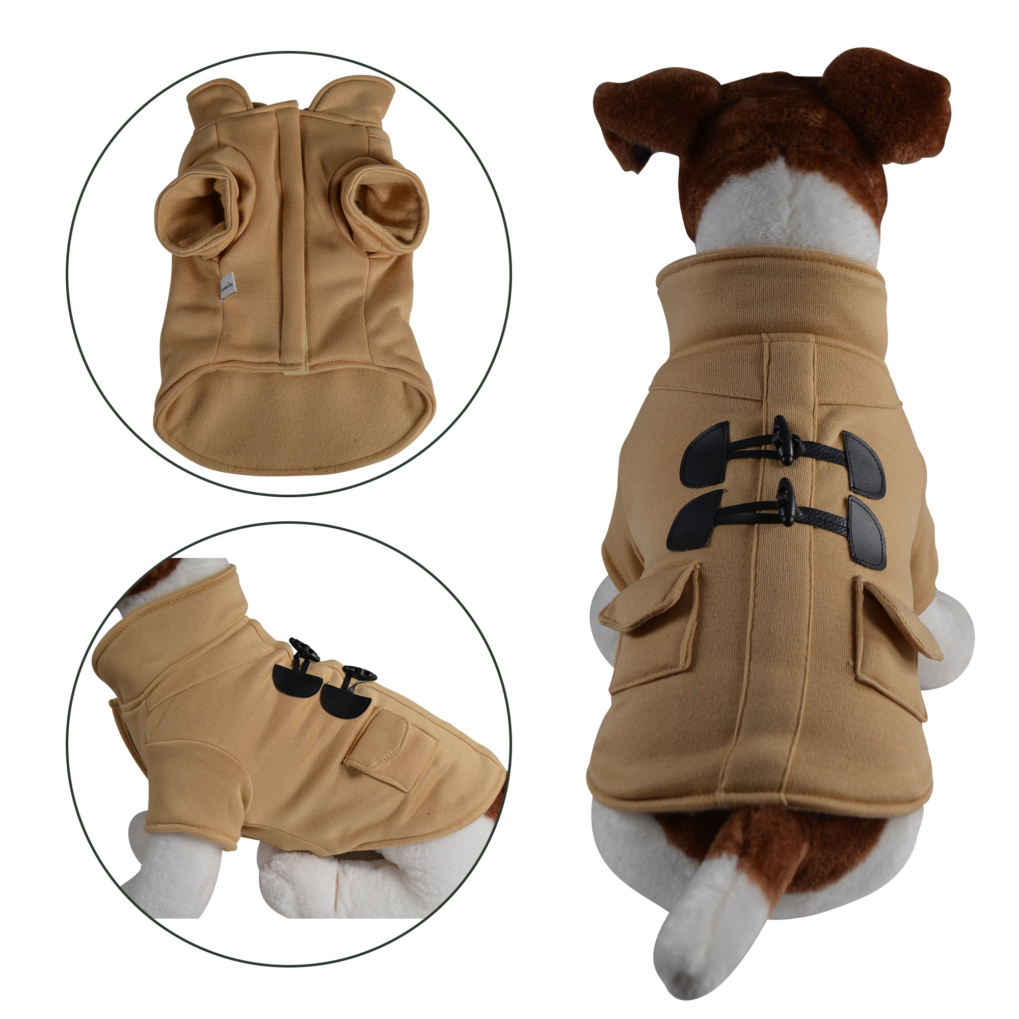Warm Stylish Duffle Dog Coat - primewareinc