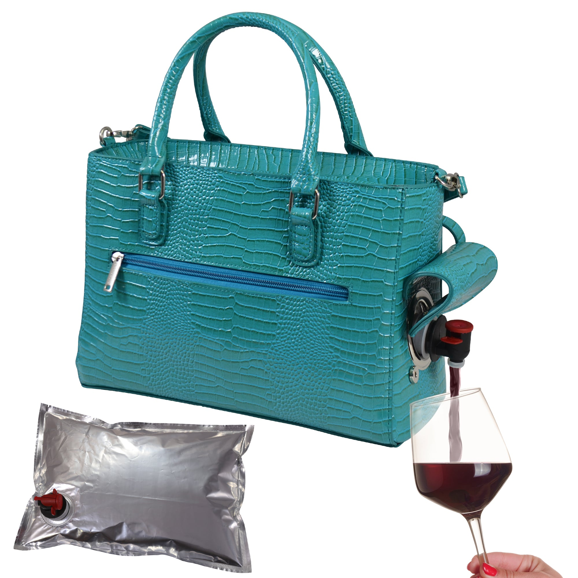 Drink Purse Croc Design - primewareinc