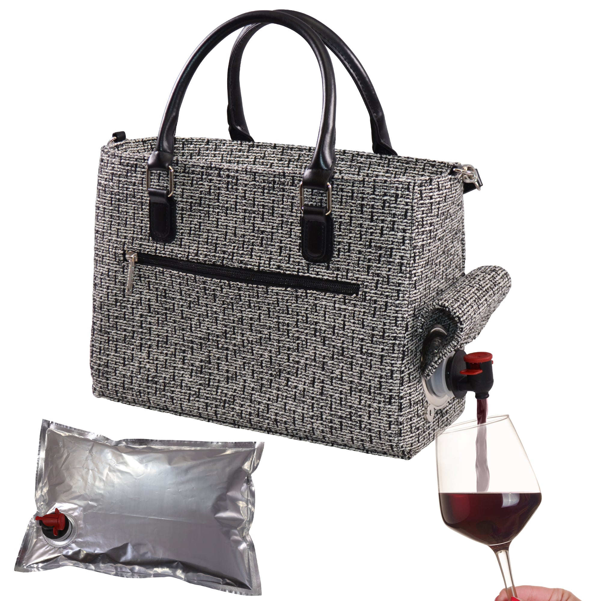 Drink Purse Tweed Design - primewareinc