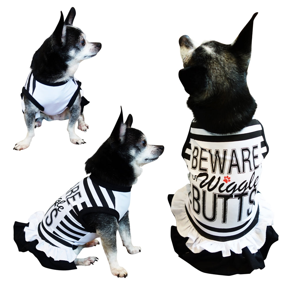 Beware Of Wiggle Butts | Dog Dress - primewareinc