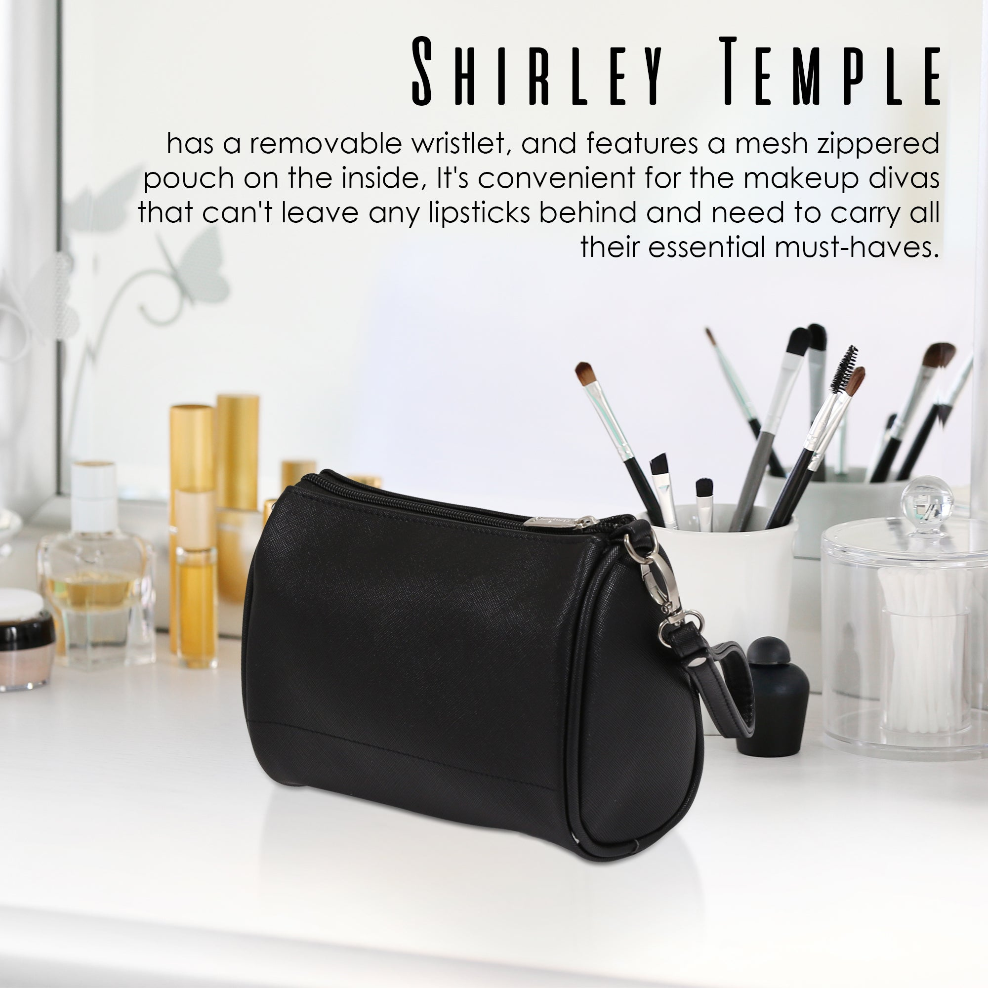Cosmetic Bag Shirley Temple Design - primewareinc