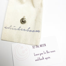 Load image into Gallery viewer, Each charm comes packaged in a lovely cotton logod bag and a sayings card that tells the recipient the meaning of the sterling silver, handcrafted charm.