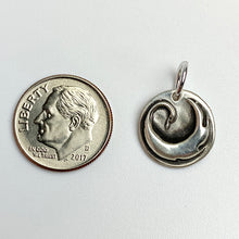Load image into Gallery viewer, BREATHE DEEP Sterling Spiral in Hand Charm