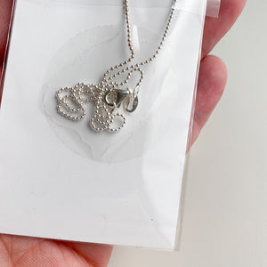 SHELL Sterling Silver, Charm Necklace with Sentiment Card