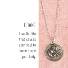 Load image into Gallery viewer, CRANE Sterling Silver, Charm Necklace with Sentiment Card