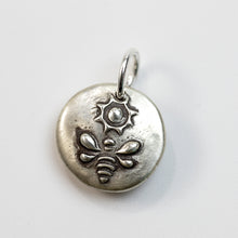 Load image into Gallery viewer, BE THE BEE - Sterling SIlver Bee & Sun Charm